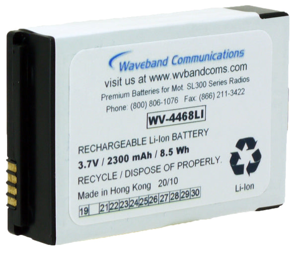 Motorola Li-Ion 2300 mAh Battery for WAVE TLK 100 and SL300 - Waveband Communications