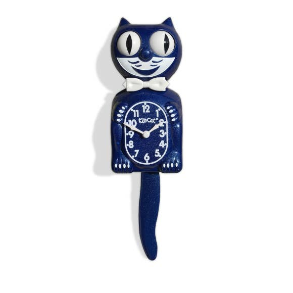 Galaxy Blue Kit Cat Klock