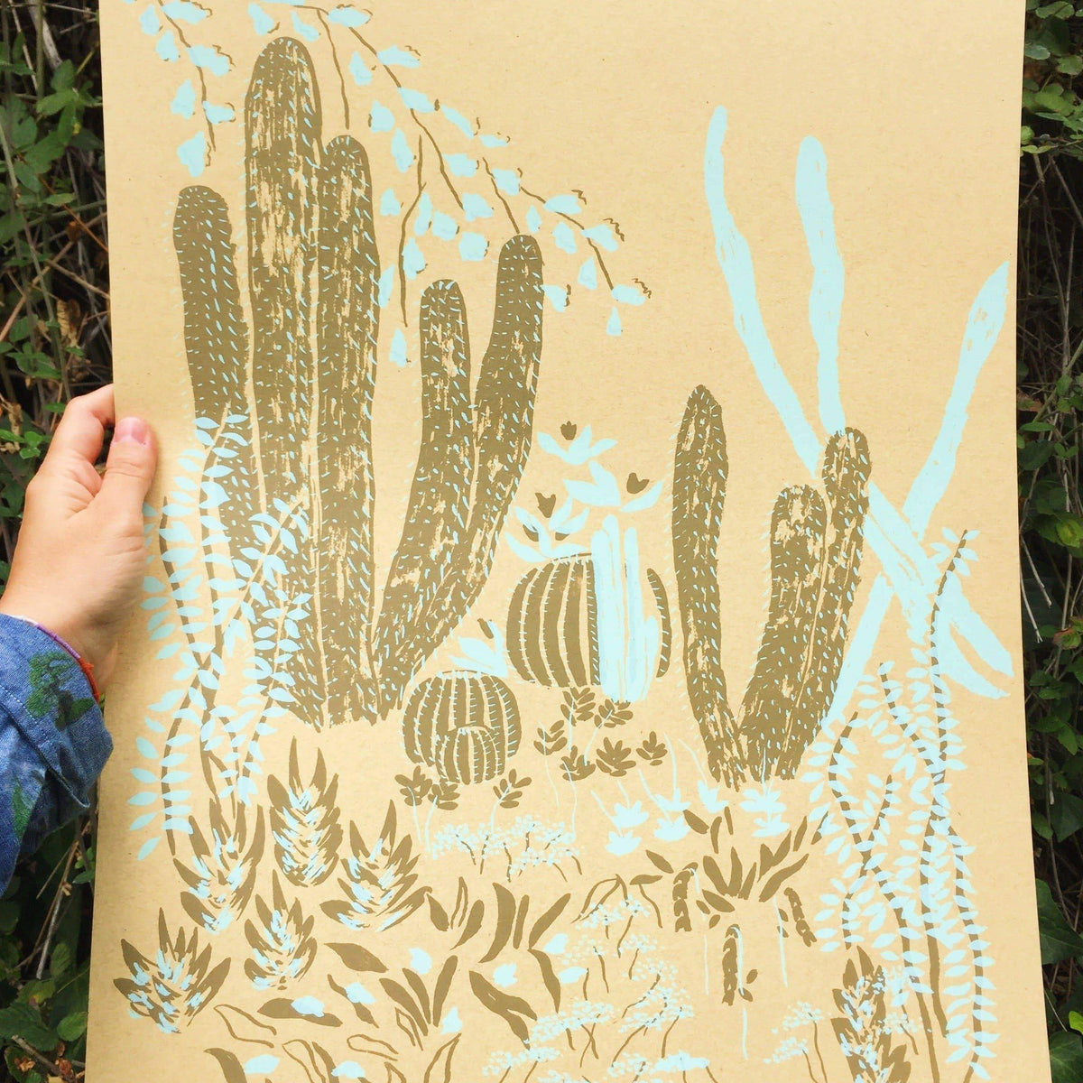 Small Adventure - Cacti Vignette Screen Print Limited Edition
