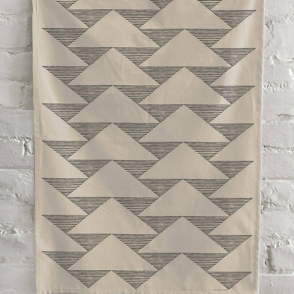 Triangles Kitchen Towel - Natural