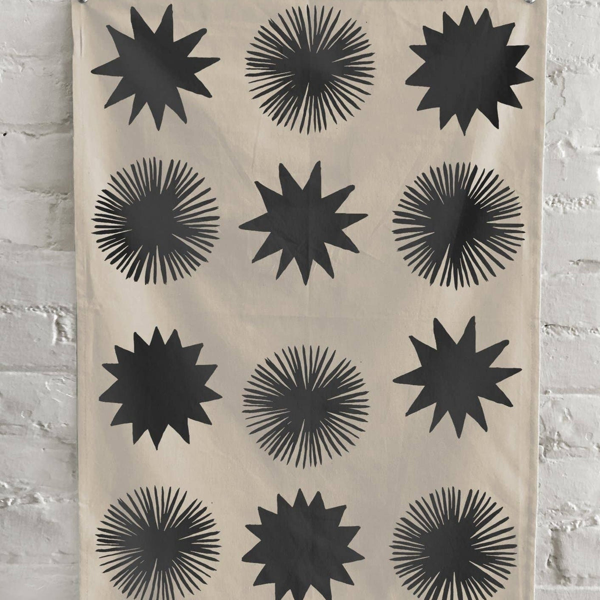 Starbursts Kitchen Towel - Natural