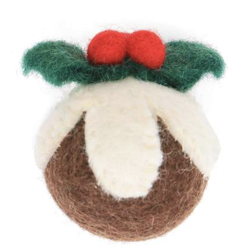 Figgy Pudding holiday cat toy