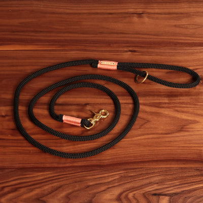 Black and Peach Climbing Rope