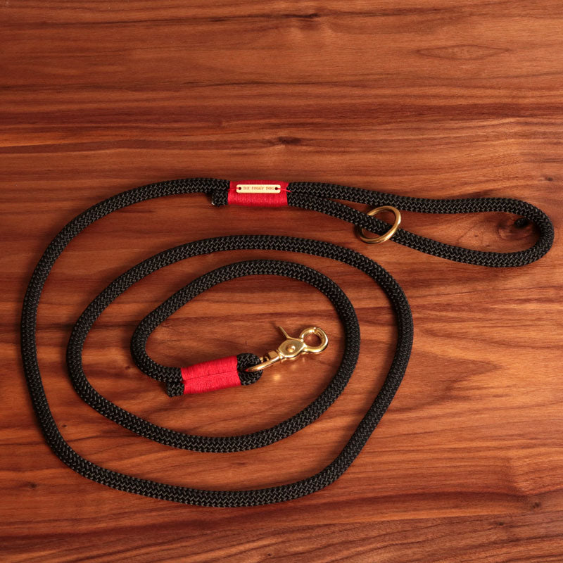 Black and Red Climbing Rope