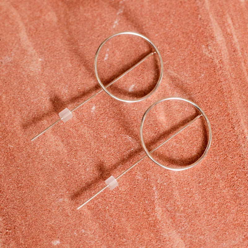 Circle & Line Threader Hoops