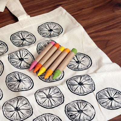 Color Your Own Market Tote Kit - Citrus