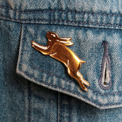 Golden Rabbit Pin