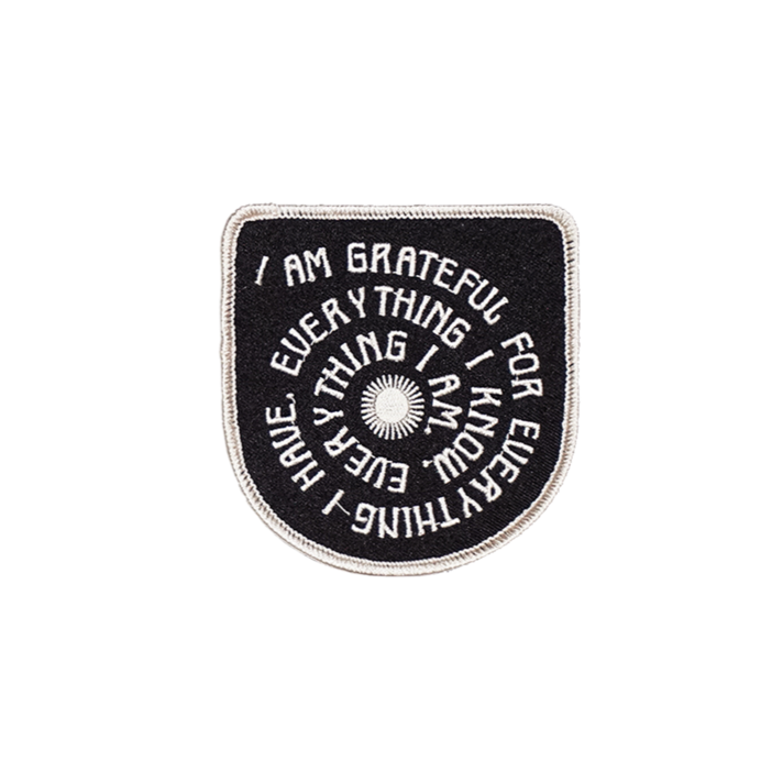 Grateful Embroidered Patch