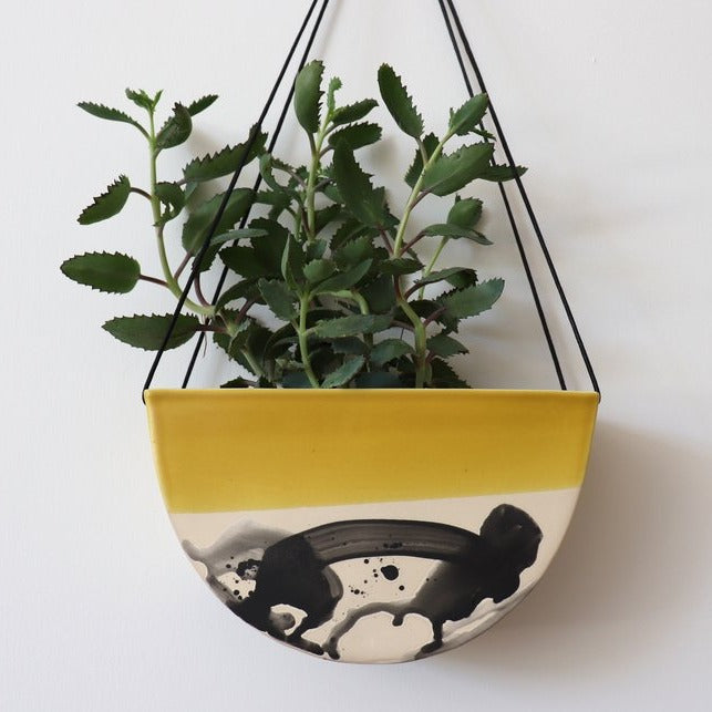 Half Moon Hanging Planter