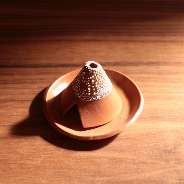 Red Incense Teepee and Plate