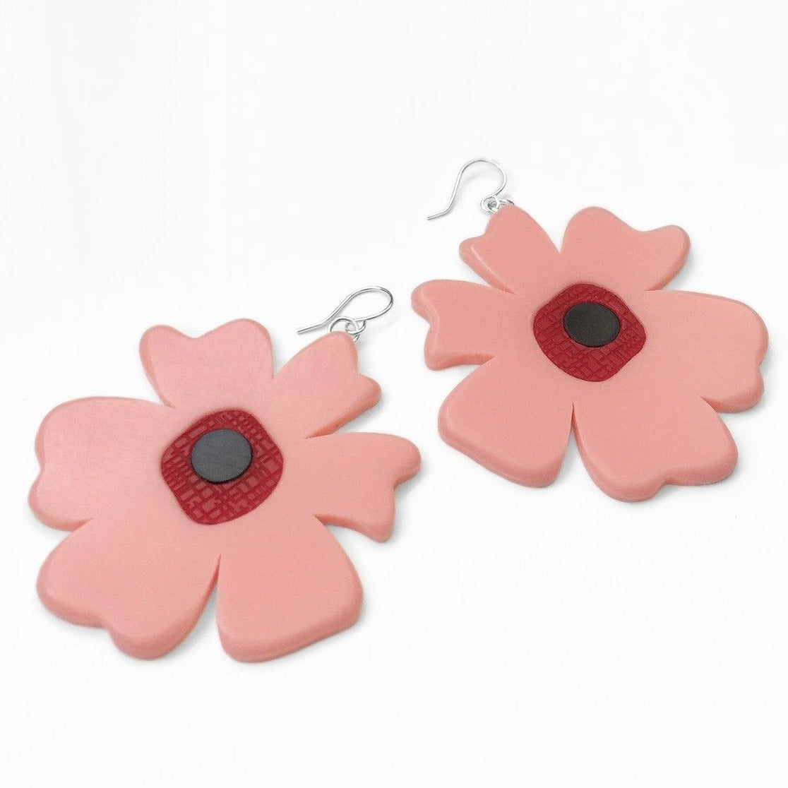 Big Poppy Earrings