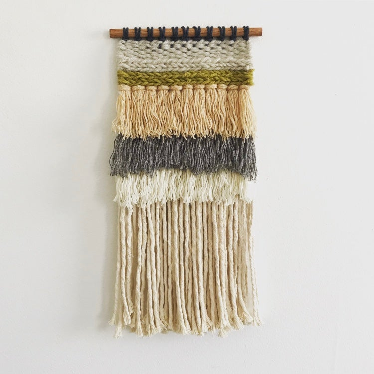 Mini Weaving (Green and Peach)