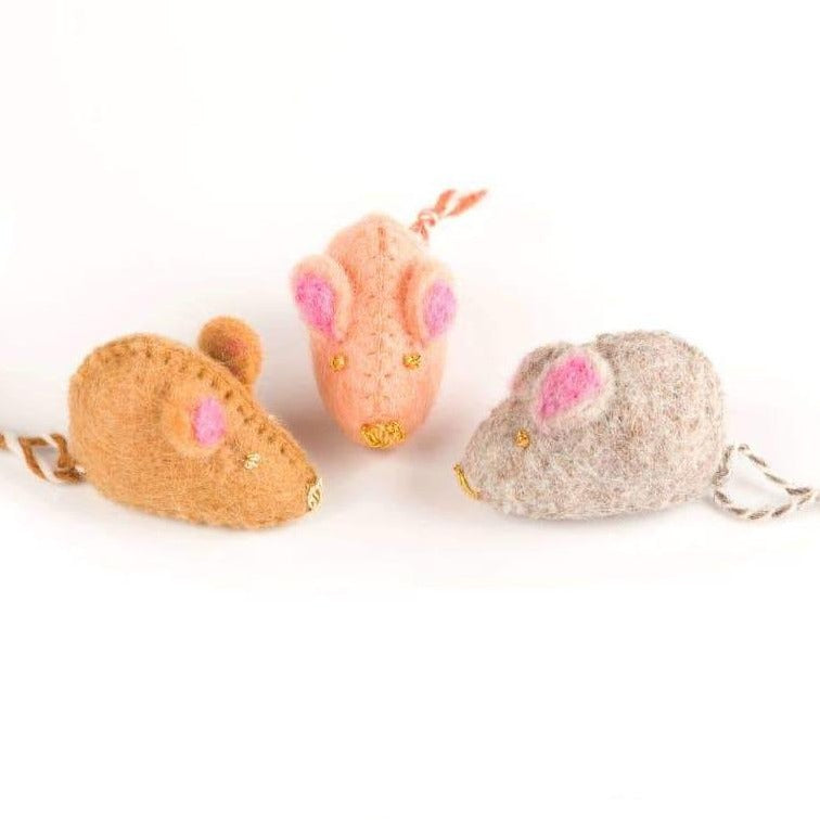 Mouse Felt Cat Toy - Caramel