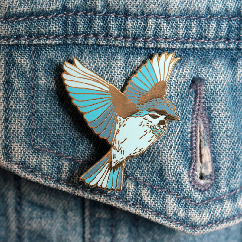 Nevada Blue Bird Pin