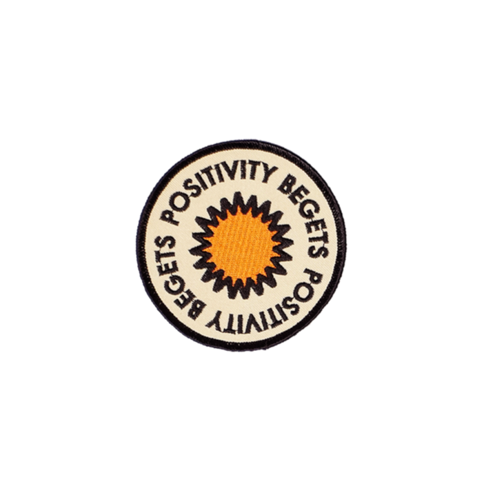 Positivity Embroidered Patch