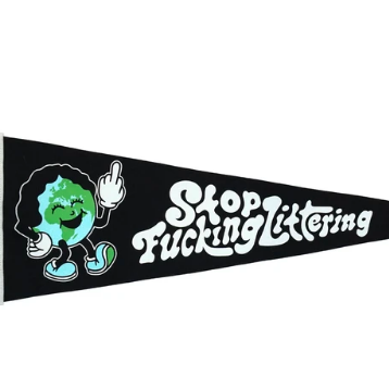 Stop Littering Pennant