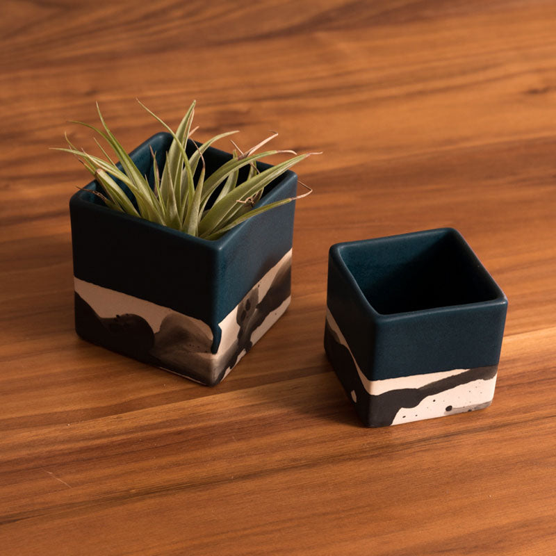 Square Splatter Planter