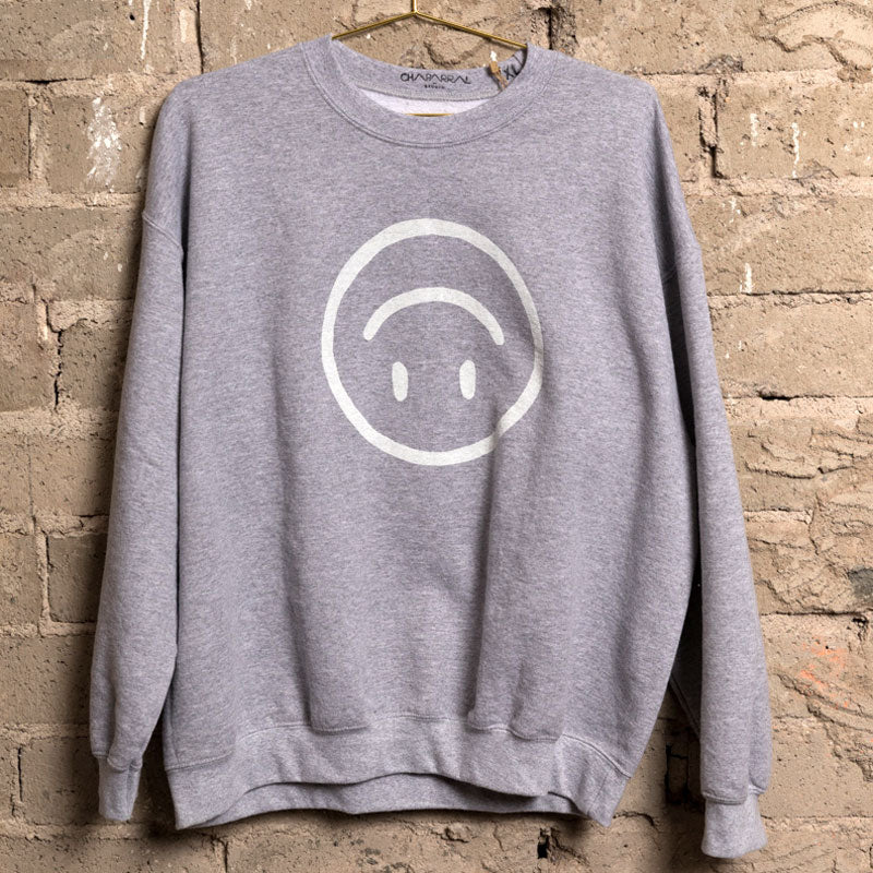 Upside Down Happy Face Sweatshirt