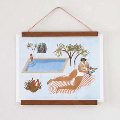 Far Off Poolside Print