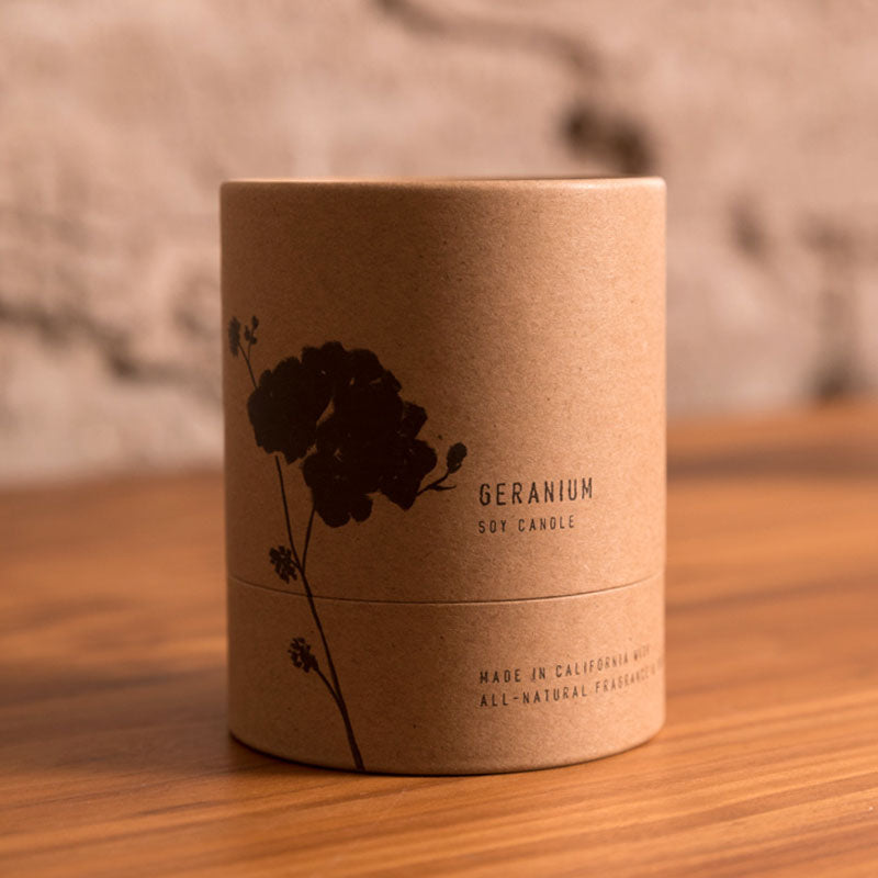Geranium - All-Natural 8 oz Terra Soy Candle