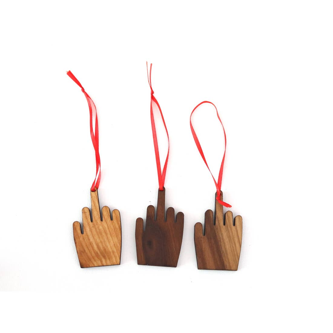 Middle Finger Christmas Ornament