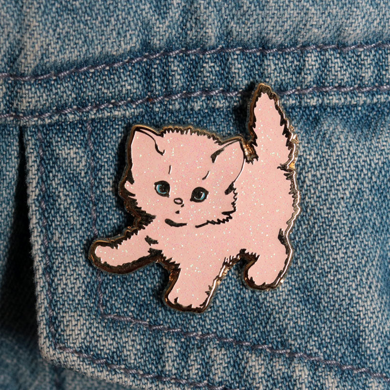 Sparkly Pink Kitty Pin