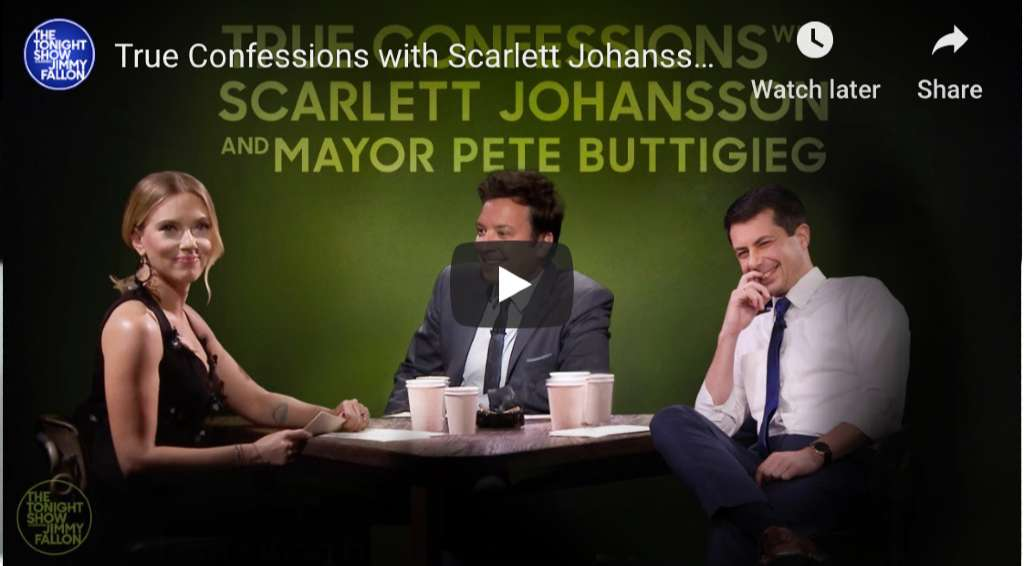 True Confessions Adult Party Card Game with Scarlett Johansson, Mayor Pete Buttigieg & Jimmy Fallon