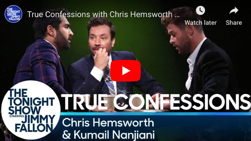 True Confessions game hosted by Jimmy Fallon Played by Chris Hemsworth & Kumail Nanjiani
