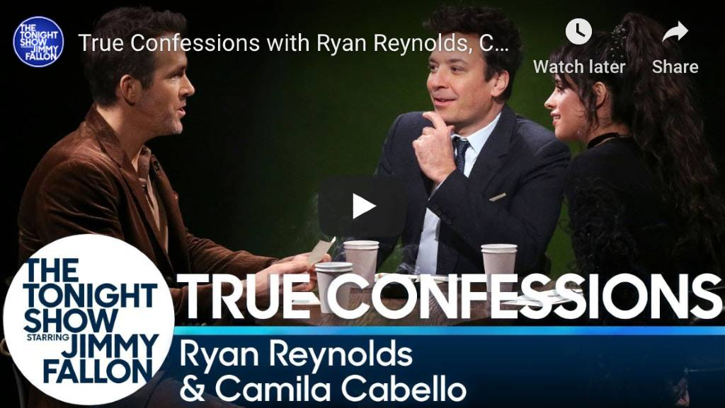 True Confessions game hosted by Jimmy Fallon Played with Ryan & Camila