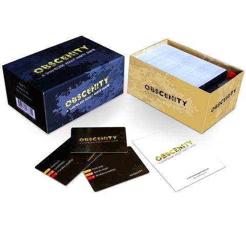 Obscenity Game: A Shameless Adult Party Card Game