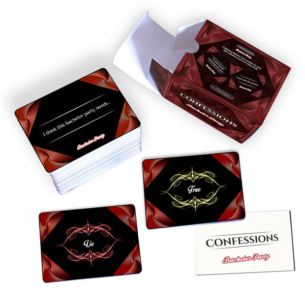 Confessions Bachelor Party adult party card - The Game of Secrets and Lies