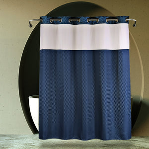 Lagute Snaphook TrueColor Hookless Shower Curtain, Navy