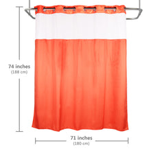 Lagute Snaphook TrueColor Hookless Shower Curtain, Coral