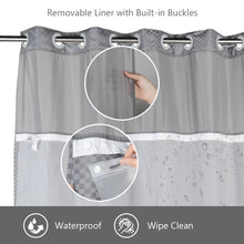 Lagute-Hookless-Shower-Curtain-Grey-Color-6