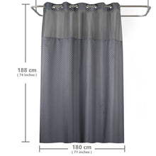 Lagute-Hookless-Shower-Curtain-Grey-Color-7