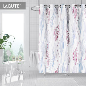 Lagute SnapHook Nature Hookless Shower Curtain