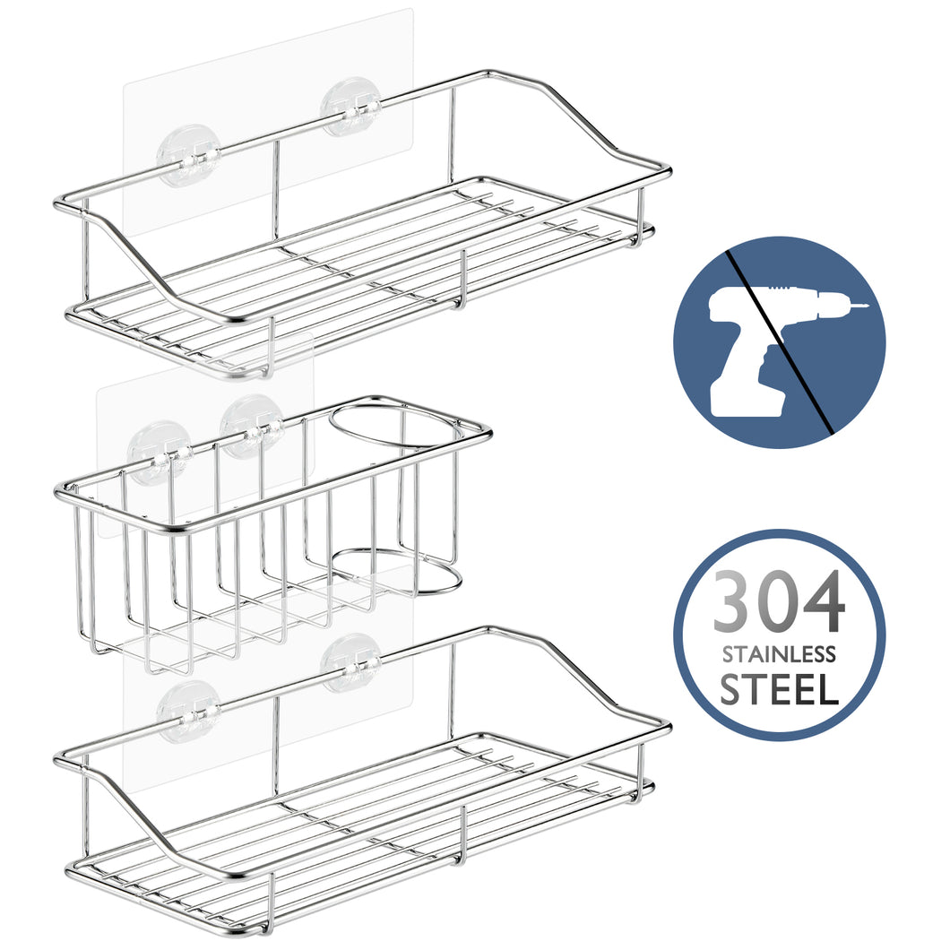 Solide 3-Pack Shower Caddy Set