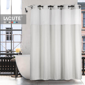 Lagute Snaphook TrueColor Hookless Shower Curtain Light Grey 5