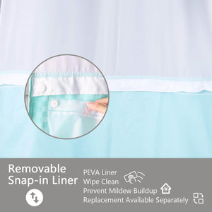 Lagute-snaphook-hookless-shower-curtain-Turquoise-5