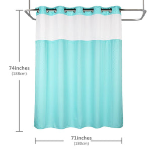 Lagute-snaphook-hookless-shower-curtain-Turquoise-6