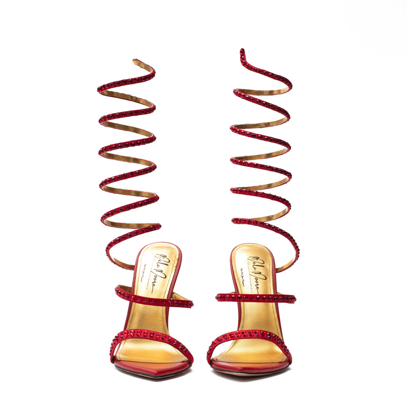 """Garden of Eden"" Red Snake Sandal"