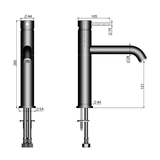 M&Z Ditirambo Tall Kitchen Sink Faucet