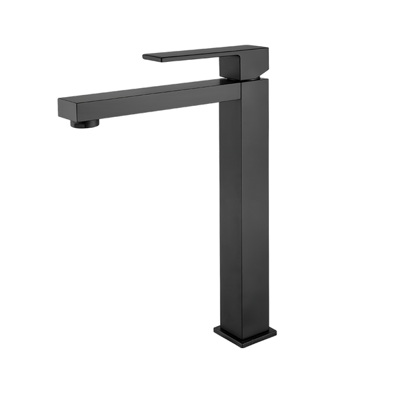 black bathroom tap