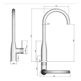 M&Z Turin Tall Kitchen Faucet