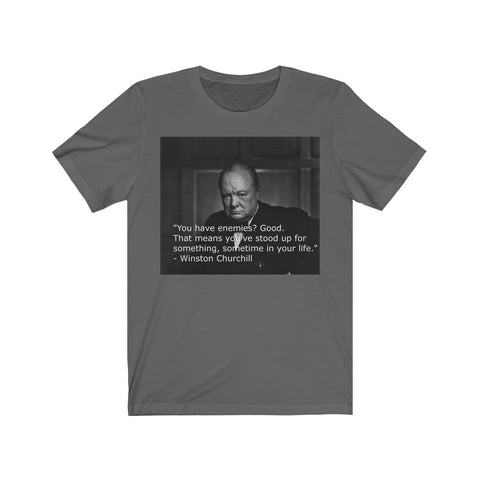 "Churchill ""Enemies"" Unisex Jersey Short Sleeve Tee"