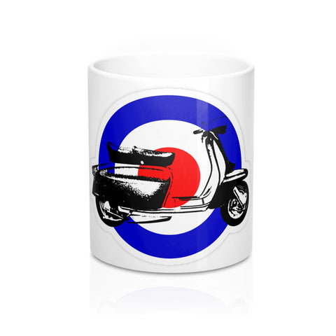 Mod Emblem and Scooter Mug 11oz