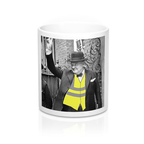 Churchill yellow Vest Mug 11oz