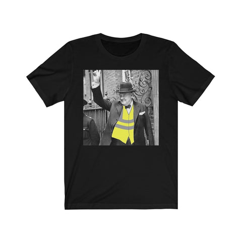 Churchill yellow Vest Unisex Jersey Short Sleeve Tee