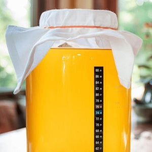 Vertical Temperature Label on Kombucha Jar