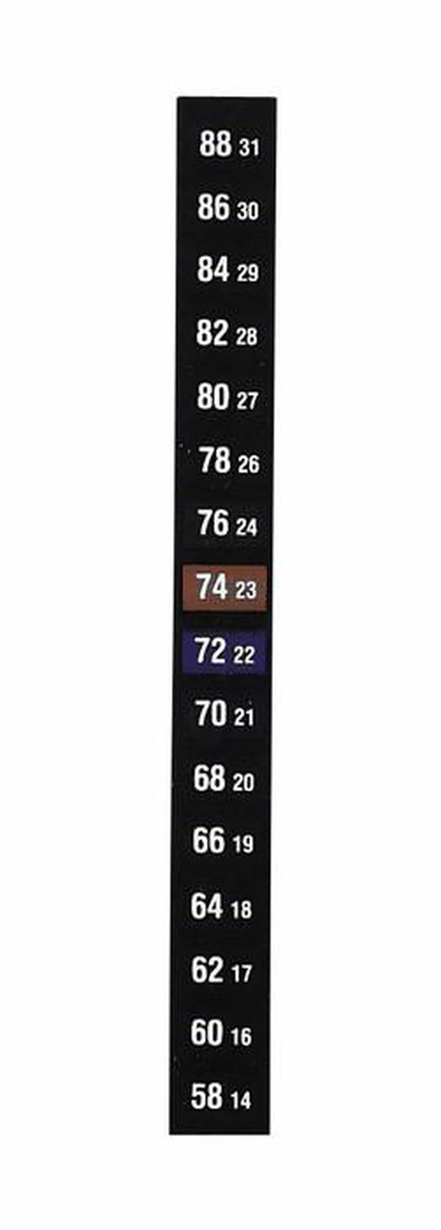 Vertical Temperature Label